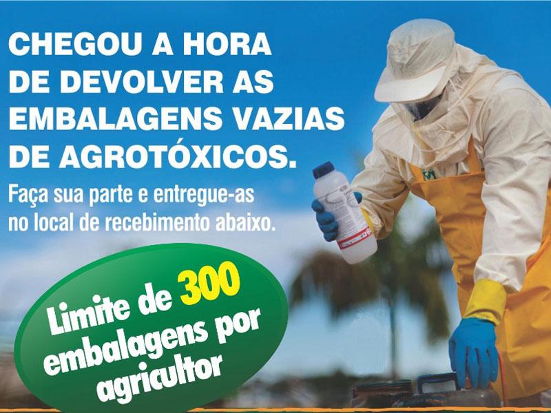 Região: Devolução de embalagens vazias de agrotóxicos é realizada com sucesso