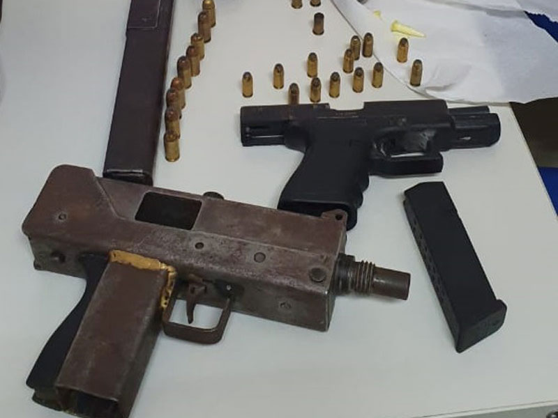 Bahia: Submetralhadora, espingarda e mais duas armas apreendidas