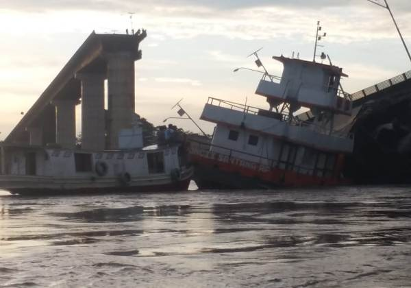 Balsa que derrubou ponte no Pará estava levando carga irregular da Vale