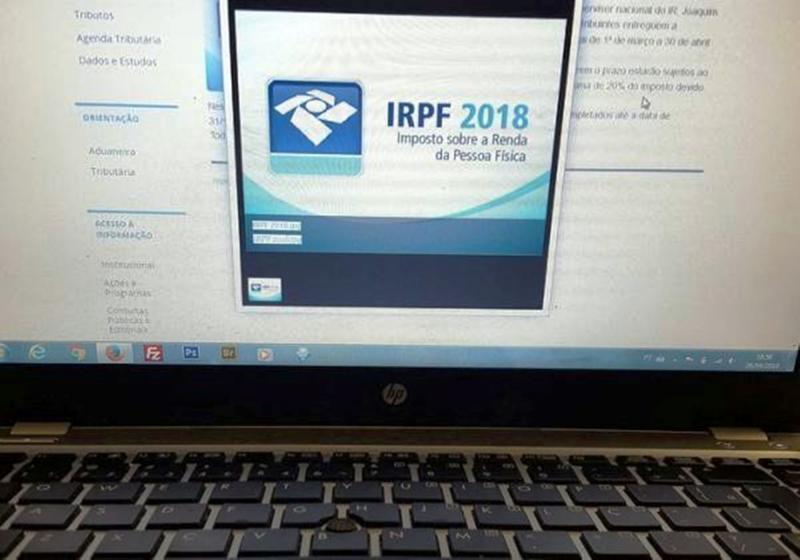 Programa de declaração do IR estará disponível nesta segunda
