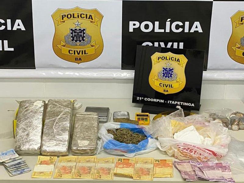 Homem é preso com drogas em Itapetinga