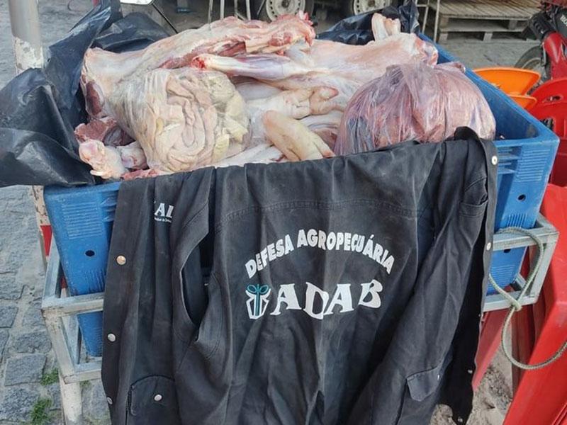 ADAB apreende 4 toneladas de carne impróprias para consumo em Caetité, Brumado, Livramento, Bom Jesus da Lapa e Guanambi