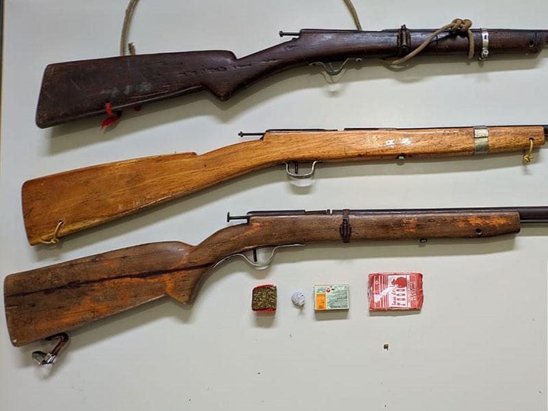 Cipe Chapada apreende nove armas de fogo em menos de 24h