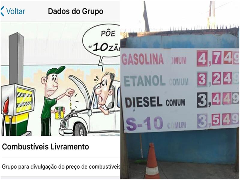 Livramento: Grupo de WhatsApp se mobiliza para divulgar gasolina mais barata da cidade