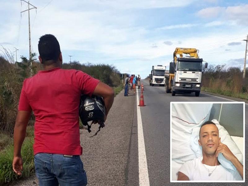 Motociclista morre ao colidir com caminhão baú na BR-030
