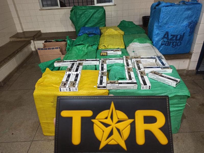 PRE de Brumado e TOR apreendem grande quantidade de cigarros contrabandeados em Ibitira