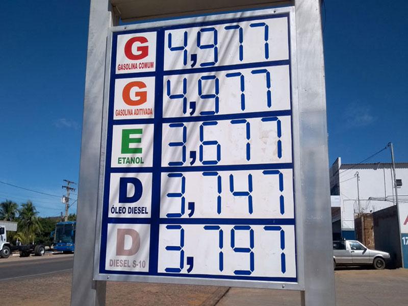 Gasolina tem redução, mas preço praticado em Brumado continua elevado