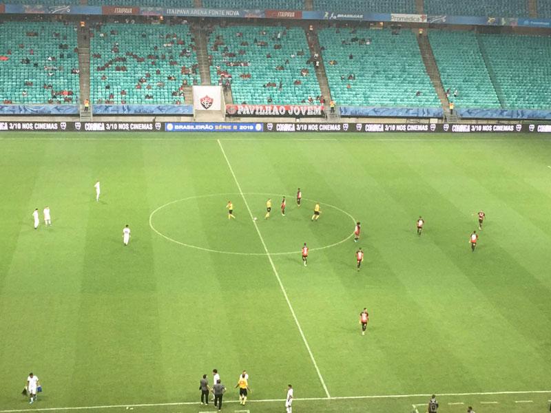 Série B: Com gol nos acréscimos, Sport arranca empate com o Vitória em Salvador