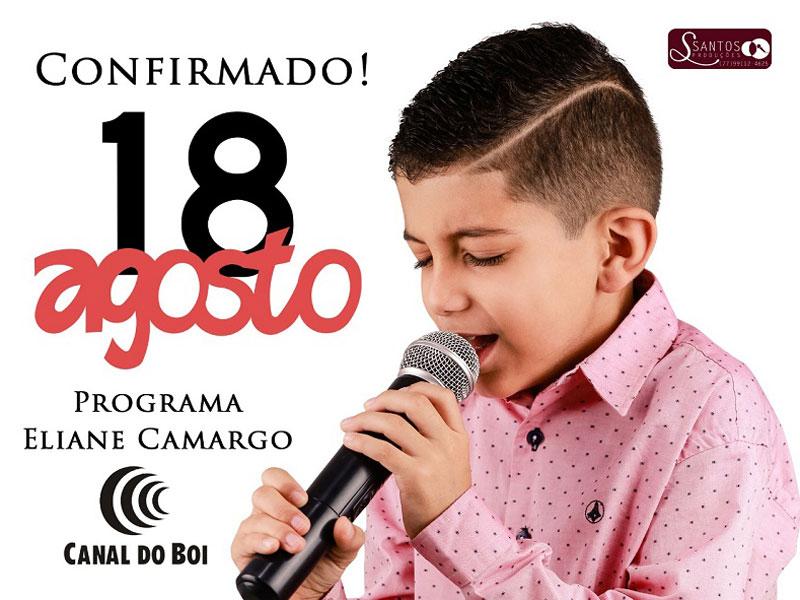 Brumado: Apresentação do cantor mirim Sandro Júnior na TV já tem data confirmada