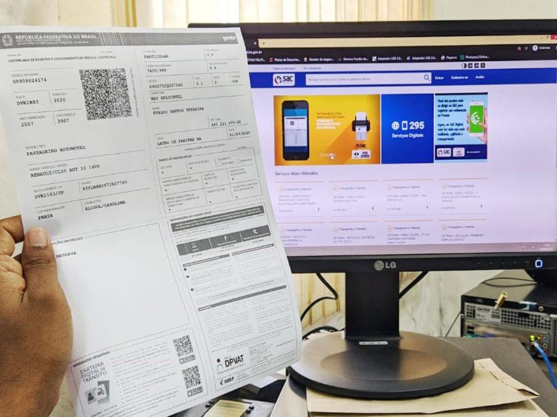 Documento do veículo alcança a marca de um milhão de solicitações pela internet na Bahia