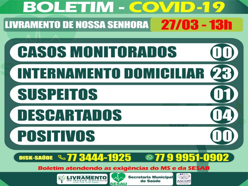 Livramento: Cidade registra 23 internamentos domiciliares de pacientes com leve suspeita do novo Coronavírus