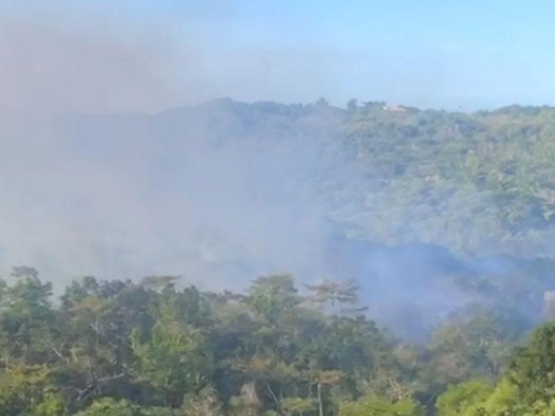 Incêndio atinge vegetação em Porto Seguro