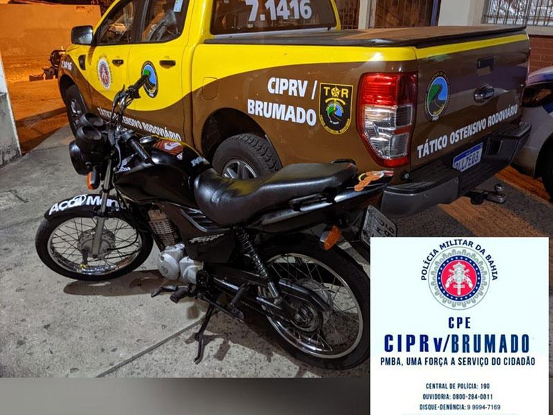 PRE de Brumado apreende motocicletas com restrição de roubo e documentos com sinais de falsificação