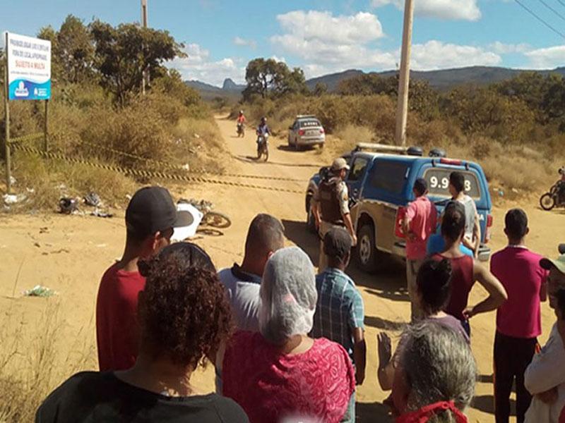 Criança de 12 morre em acidente de moto na estrada vicinal do município de Jacaraci