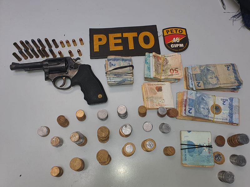 Homem é localizado com arma de fogo e munições na cidade de Rio do Pires