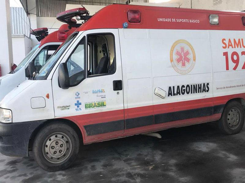 Alagoinhas: Homem é preso por roubar ambulância do Samu na frente de hospital