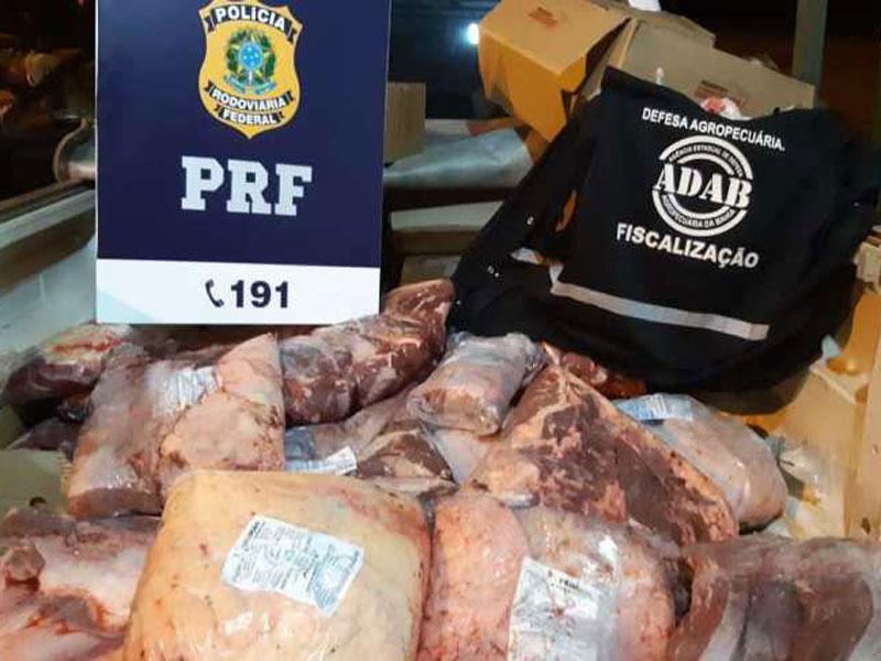 Jequié: Idoso é flagrado transportando quase 200 Kg de carne bovina de forma irregular