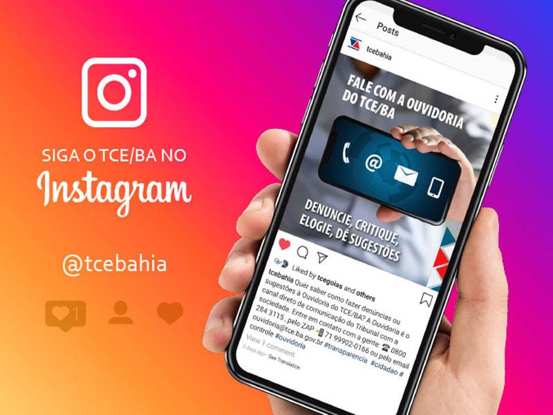 TCE da Bahia lança página oficial no Instagram