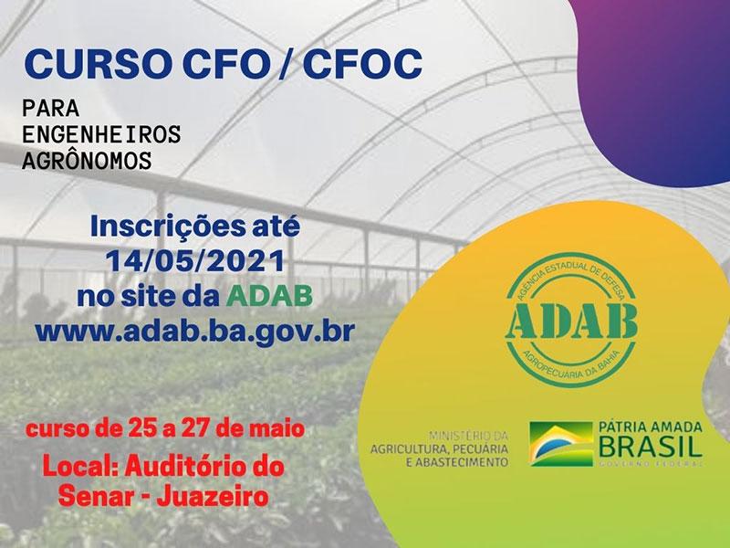 ADAB abre inscrições para capacitação de engenheiros agrônomos