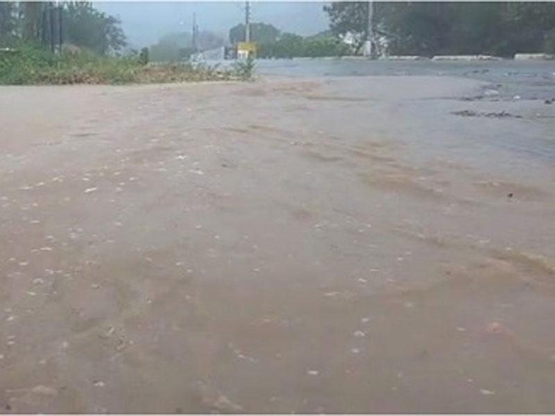 Chuva intensa foi registrada em Livramento no último sábado (28)