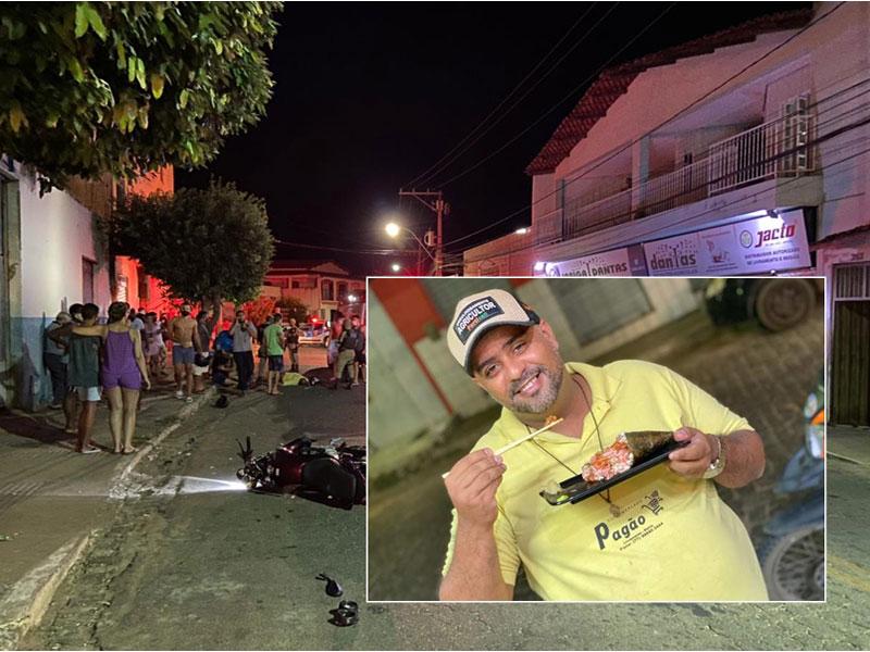 Homem morre após motocicleta em que estava colidir contra árvore em Livramento de Nossa Senhora