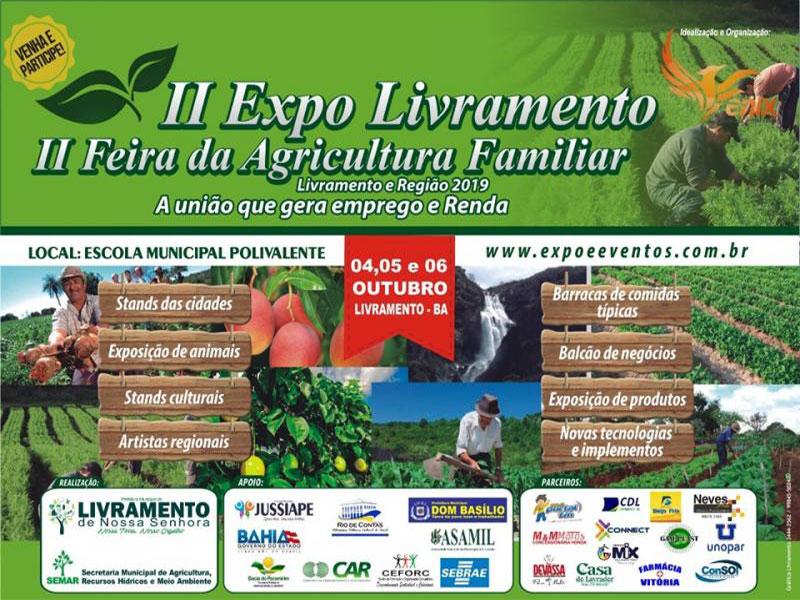 Acontecerá próximo fim de semana II Expo Livramento e II Feira de agricultura familiar