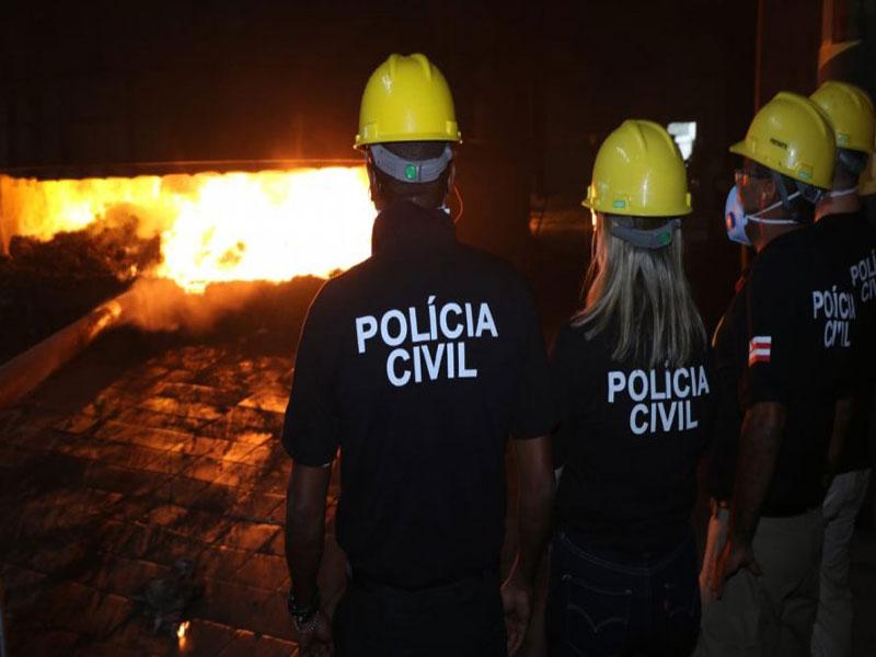 Drogas avaliadas em R$ 50 milhões são incineradas por polícia
